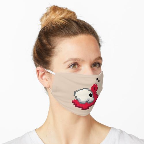 Schädelschnecke - Pixel Art Maske