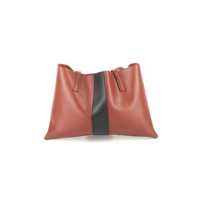 Vince Camuto - Vince Camuto Tote Bag: Brown Color Block Bags