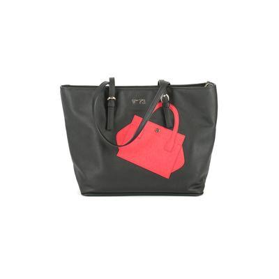 V73 By Elisabetta Armellin - V73 By Elisabetta Armellin Tote Bag: Black Color Block Bags