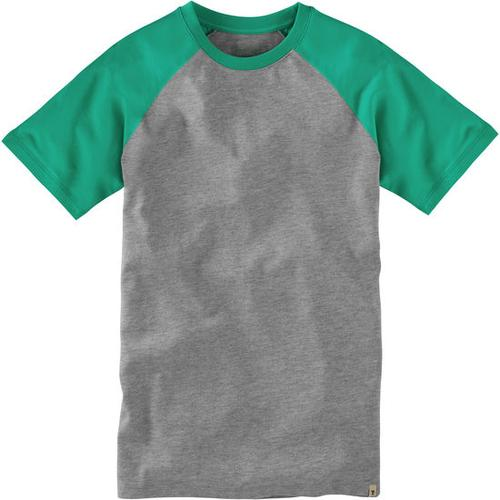 T-Shirt Raglan, grün, Gr. 140/146