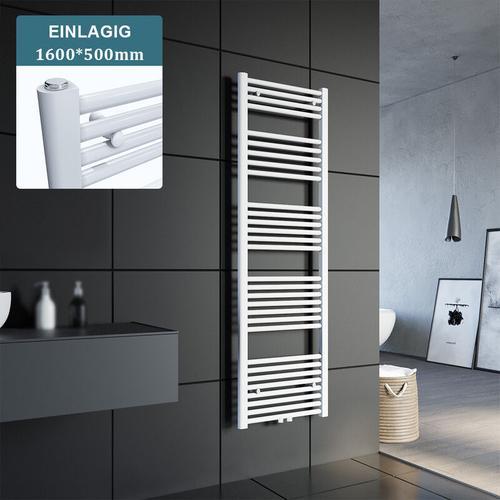 Badheizkörper Handtuchheizkörper Handtuchwärmer Handtuchtrockner 1600x500mm Weiß