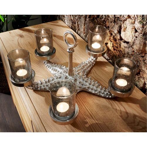 die Faktorei »Seestern« Deko-Kerzenständer Aluminium vernickelt