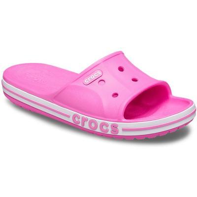 Crocs Electric Pink Bayaband Slide Shoes