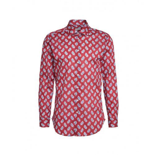 Etro Herren Hemd im Paisley Print Rot