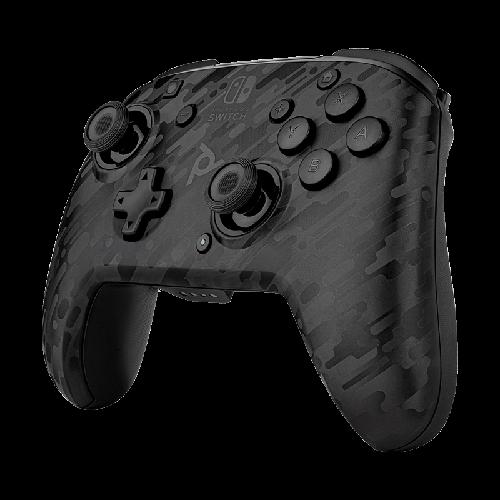 PDP Faceoff Wireless Deluxe Controller - Black Camo, Gaming Controller
