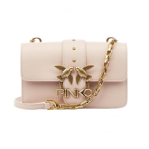 Pinko Damen Umhängetasche mit Logo Rosa