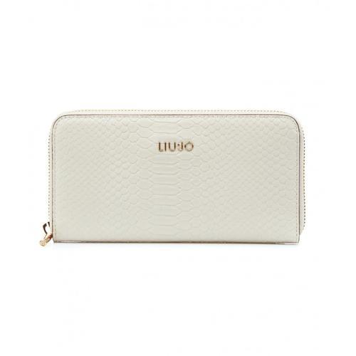 Liu Jo Damen Brieftasche mit Krokodiloptik Weiß