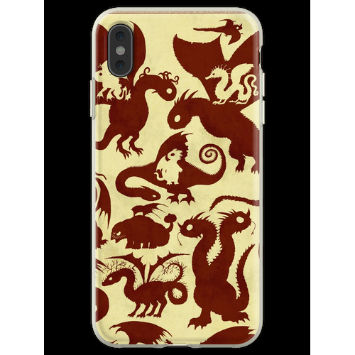 Drache & Schlangen Flexible Hülle für iPhone XS Max