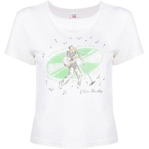 Re/done T-Shirt mit Elvis-Print