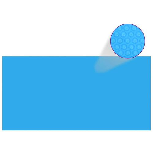 Rechteckige Pool-Abdeckung PE Blau 549 x 274 cm
