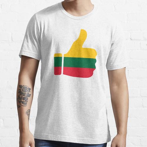 Fahnen-Daumen von Litauen Essential T-Shirt