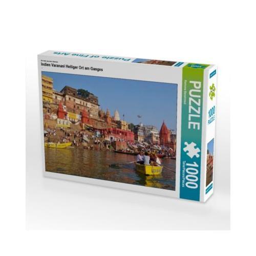 Indien Varanasi Heiliger Ort am Ganges Foto-Puzzle Bild von Ramona Benahmed Puzzle