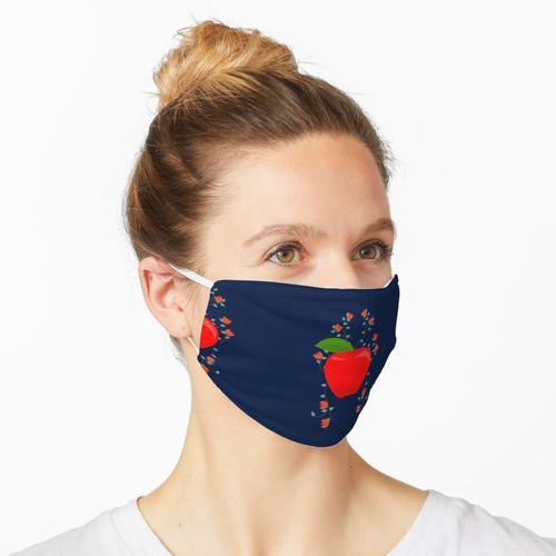 Lustiger roter Apfel (Pflanze) Maske