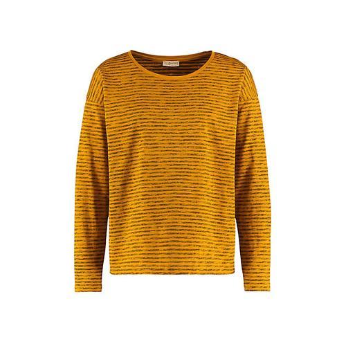 Deerberg Damen Jersey-Shirt Sixta dunkelmango-gestreift