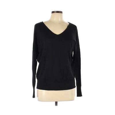 Love Culture Long Sleeve T-Shirt: Black Solid Tops - Size Large