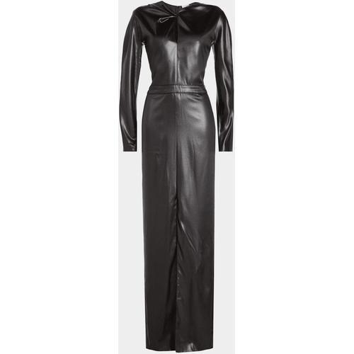 Nina Ricci Bodenlanges Kleid in Leder-Optik