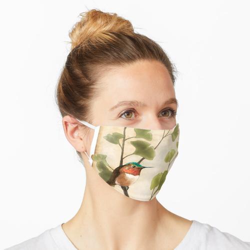 Kolibri im Ginkgobaum Maske