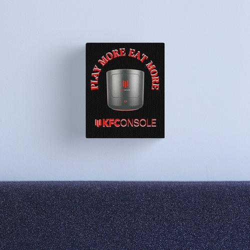 KFC Console Play More Eat More Console Canvas Print