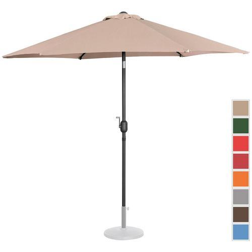 Sonnenschirm groß Gartenschirm (sechseckig, Ø 270 cm, neigbar, creme) - Uniprodo