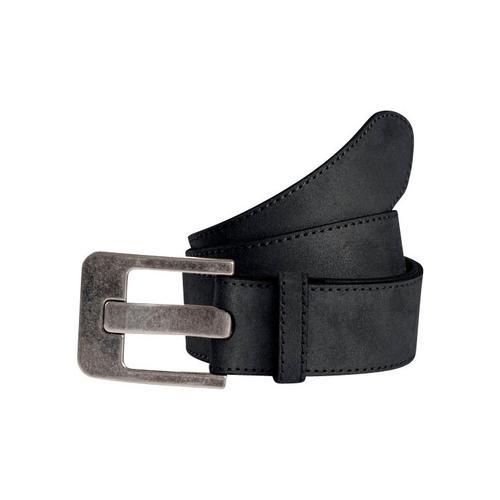 TOM TAILOR Ledergürtel, weiche Oberfläche schwarz Damen Ledergürtel Gürtel Accessoires