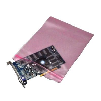 """LK Packaging FASST40912 Resealable Anti Static Bag for Electronic Components - 9"""" x 12"""", LDPE, Pink"""