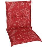 GO-DE Sesselauflage, 100 x 50 cm, nieder rot Gartenstuhlauflagen Gartenmöbel-Auflagen Gartenmöbel Gartendeko Sesselauflage