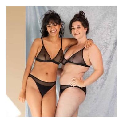 Olly Lingerie - Selune Panties In Black - L