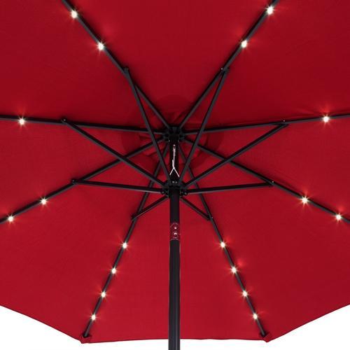 Kingsleeve Sonnenschirm LED-Beleuchtung Rot