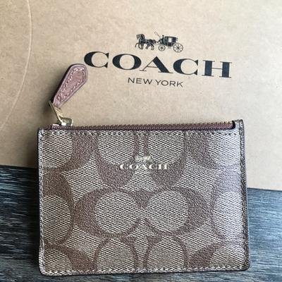 Coach Accessories | Coach Signature Cardholderkeychain | Color: Red | Size: Os