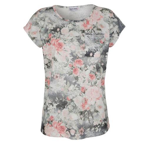 Shirt Laura Kent Rosé::Grau::Lindgrün