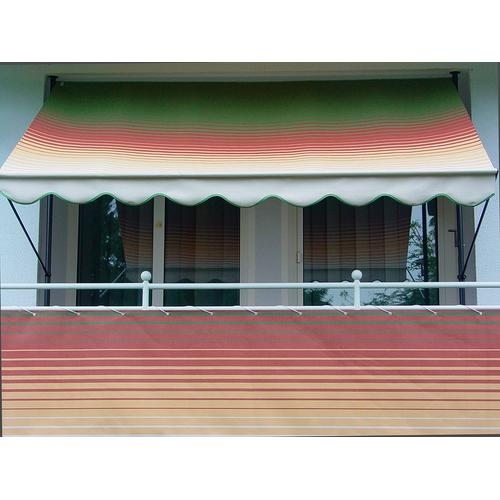 Angerer Freizeitmöbel Balkonsichtschutz Nr. 1800, Meterware, grün/rot/gelb, H: 90 cm grün Markisen Garten Balkon