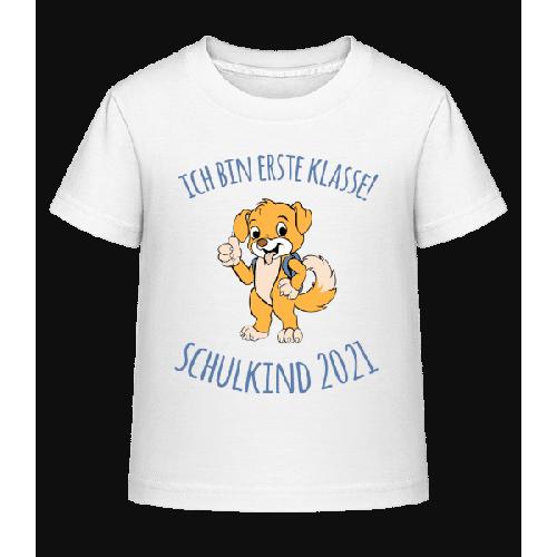 Kleiner Hund Mit Schulranzen 2021 - Kinder Shirtinator T-Shirt