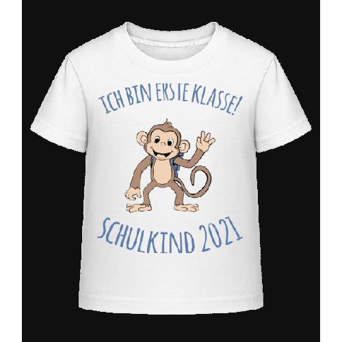 Kleiner Affe Mit Schulranzen 2021 - Kinder Shirtinator T-Shirt