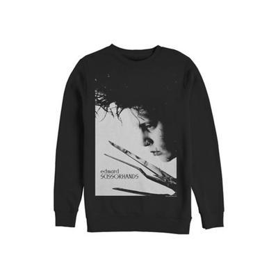 Edward Scissorhands Black Edward Scissorhands Close Up Poster Crew Fleece Graphic Sweatshirt