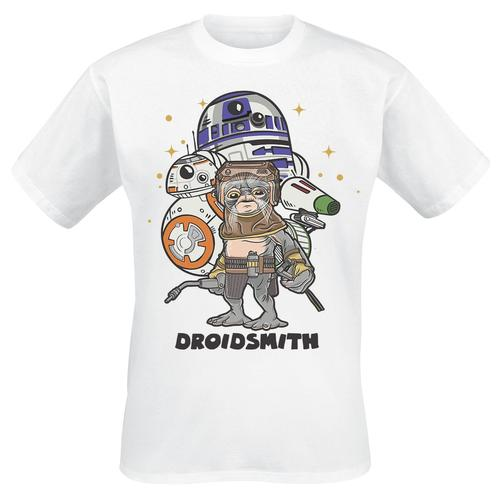 Star Wars Droidsmith Herren-T-Shirt - weiß