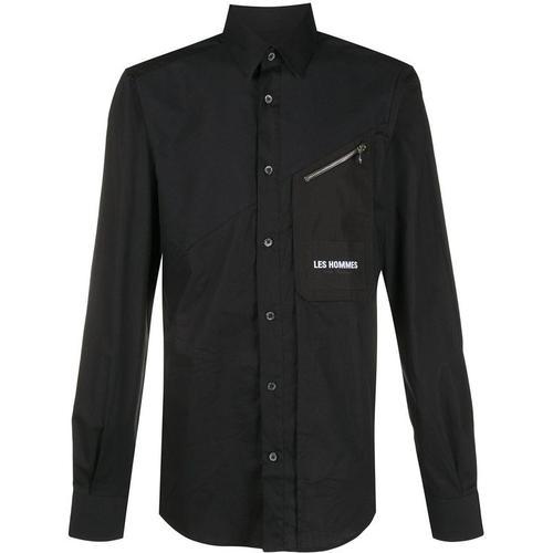 Les Hommes Hemd mit Reißverschlusstasche