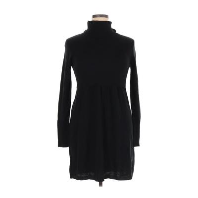AB Studio - AB Studio Casual Dress - Sweater Dress: Black Solid Dresses - Used - Size X-Large