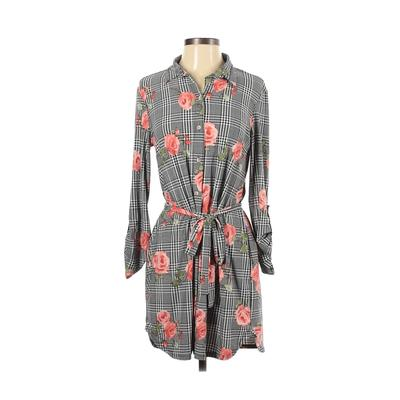 Polly & Esther - Polly & Esther Casual Dress - Shirtdress: Black Plaid Dresses - Used - Size Small