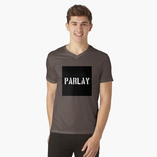 PARLAMENT LOGO t-shirt:vneck