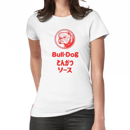 Bull-Dog Tonkatsu Sauce Fan T-Shirt Women's Fitted T-Shirt