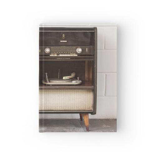 Antiker Plattenspieler Plattenspieler und Stereoanlage Notizbuch