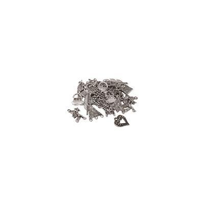 Set de pendentifs, argenté, 15–30 mm, 50 g