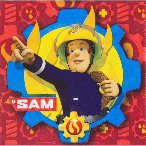 Papierserviette Feuerwehrmann Sam, 33 x 33 cm, 20 Stück