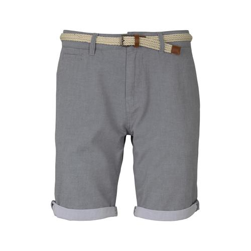 TOM TAILOR DENIM Herren Chino Shorts mit Gürtel , grau, Gr.XL