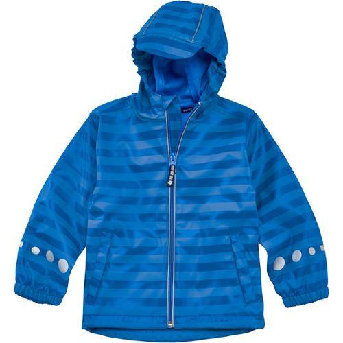 Regenjacke Ringel, blau, Gr. 128/134