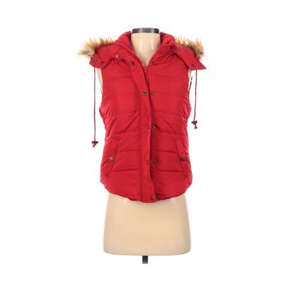 Love Tree Jacket: Red Solid Jackets & Outerwear - Size Small