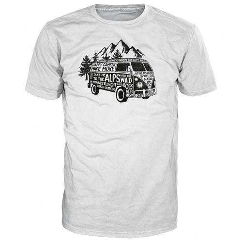 Alprausch - Happy Camper T-Shirt Gr L;M;S;XL;XXL grau/weiß