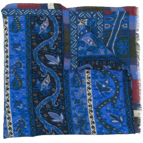 Etro Ausgefranster Schal mit Print