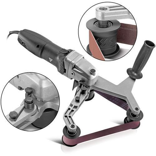 Rohrbandschleifer RS-800 ST Bandschleifer Rohrschleifer Schleifmaschine mit 800W zum Schleifen,