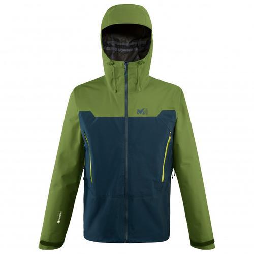 Millet - Kamet Light GTX Jacket - Regenjacke Gr S oliv/schwarz/blau